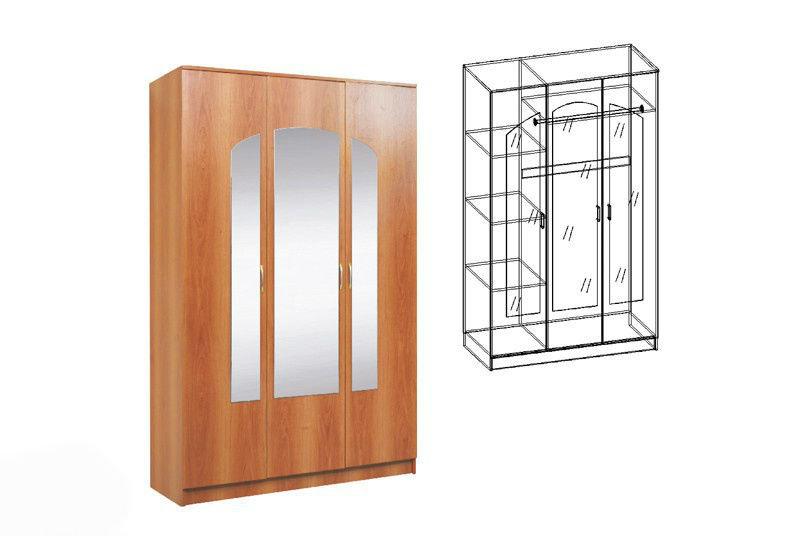 Купить спальня светлана шкаф распашной 3-х створчатый с 3 зе.